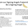 Signing Angels Fraternity